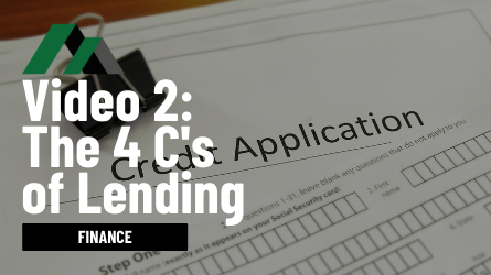 4 C's of Lending | Property Investment